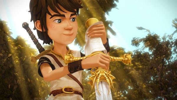 Das Zauberschwert Excalibur bestimmt, wer Thronfolger von Camelot wird.   Rechte: SWR/Blue Spirit Productions/TéléTOON+/Canal+