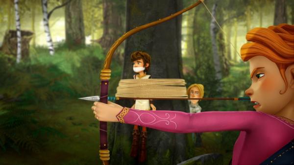 Wenn es eng wird, können die Freunde der Tafelrunde auf Prinzessin Guinevere bauen. | Rechte: SWR/Blue Spirit Productions/TéléTOON+/Canal+