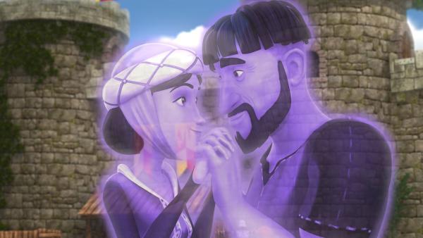 Nach vielen Jahren treffen sich Jon Camran und seine Frau als Geister endlich wieder. | Rechte: SWR/Blue Spirit Productions/TéléTOON+/Canal+