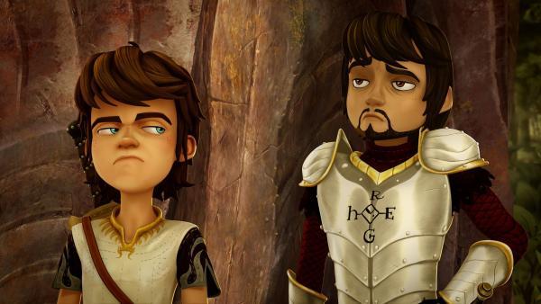 Arthur findet den Ritter aus der Fremde äußerst unsympathisch. | Rechte: SWR/Blue Spirit Productions/TéléTOON+/Canal+