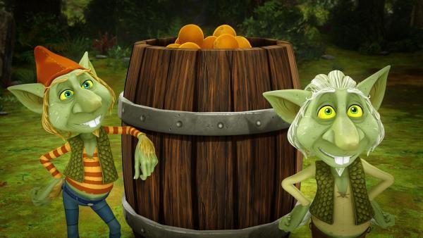 Kobolde lieben Orangen. | Rechte: SWR/Blue Spirit Productions/TéléTOON+/Canal+