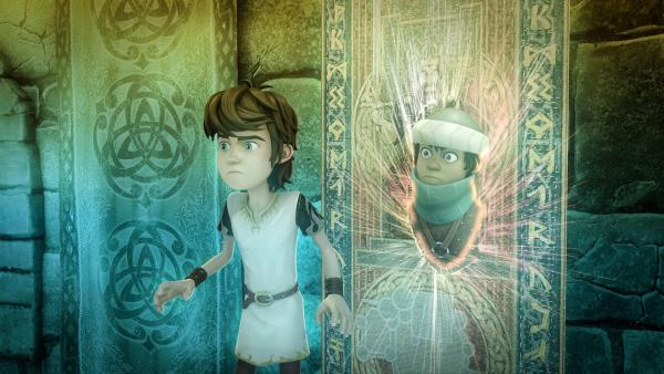 """Der magische Wandteppich ist ein Portal in die """"Andere Welt"""".   Rechte: SWR/Blue Spirit Productions/TéléTOON+/Canal+"""