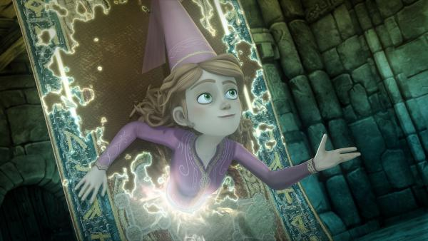 Hilfe naht: Guinevere hat einen Weg durch den magischen Teppich gefunden.   Rechte: SWR/Blue Spirit Productions/TéléTOON+/Canal+
