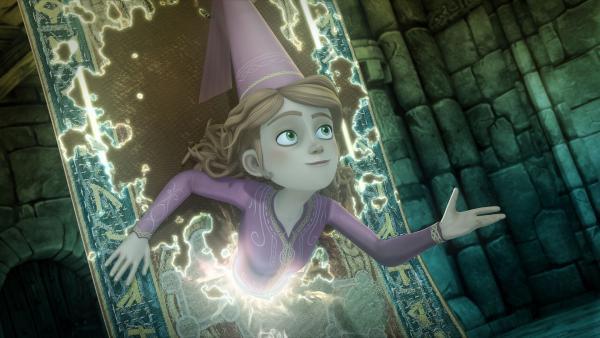 Hilfe naht: Guinevere hat einen Weg durch den magischen Teppich gefunden. | Rechte: SWR/Blue Spirit Productions/TéléTOON+/Canal+