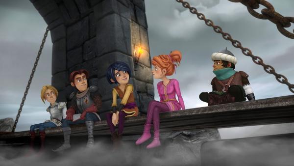 Die Freunde der Tafelrunde haben es geschafft: Morgan darf zurück nach Camelot. | Rechte: SWR/Blue Spirit Productions/TéléTOON+/Canal+