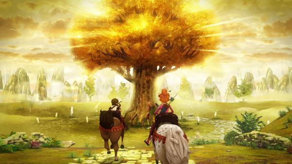 Arthur und Guinevere haben den Baum des Lebens gefunden.   | Rechte: SWR/Blue Spirit Productions/TéléTOON+/Canal+