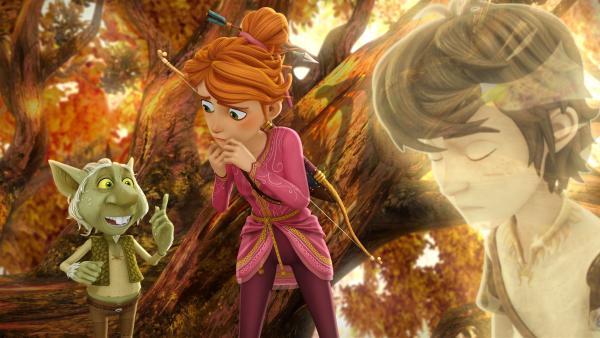 Nur der Kobold kann Guinevere helfen, Arthurs Verschwinden zu verhindern.  | Rechte: SWR/Blue Spirit Productions/TéléTOON+/Canal+