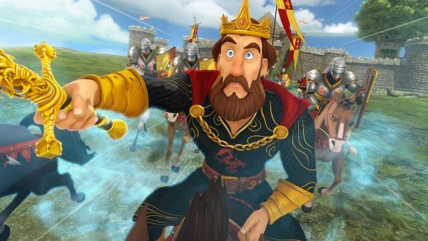 König Uther ist irritiert. Er hat die Macht seiner Feinde unterschätzt.    Rechte: SWR/Blue Spirit Productions/TéléTOON+/Canal+