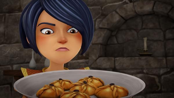 Morgan ist entsetzt. Jemand hat die Kekse für den König vergiftet.   | Rechte: SWR/Blue Spirit Productions/TéléTOON+/Canal+