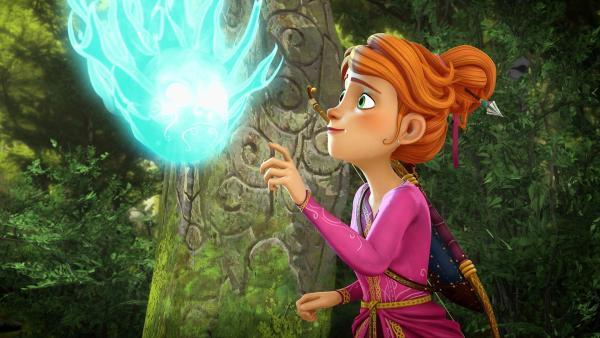 Ein Mädchen greift nach einem blauen Geist | Rechte: Kika - Kika