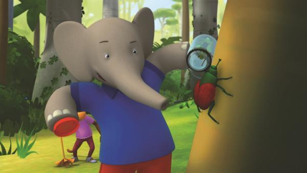 Tatsächlich gelingt es Badou und Chiku einen der seltenen Käfer zu fangen. | Rechte: KiKA/Nelvana Limited/TeamTO/YTV Productions