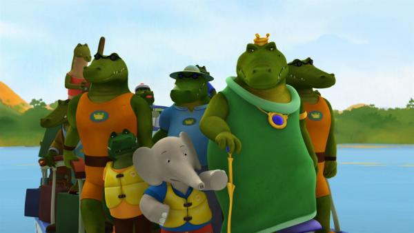 Die Krokodile sind vor einem Monster geflüchtet. | Rechte: KiKA/Nelvana Limited/TeamTO/YTV Productions