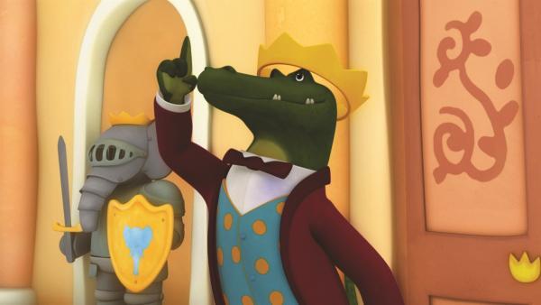 Durch einen gemeinen Plan ist es Krokodilus gelungen König von Celesteville zu werden. | Rechte: KiKA/Nelvana Limited/TeamTO/YTV Productions