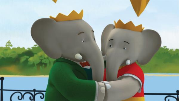 König Babar und Königin Celeste feiern ihren Hochzeitstag. | Rechte: KiKA/Nelvana Limited/TeamTO/TF1