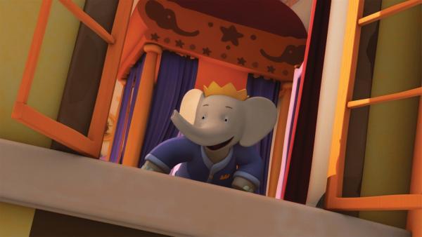Badou ist ganz aufgeregt, als sein Opa mit dem Windgleiter vorfährt. | Rechte: KiKA/Nelvana Limited/TeamTO/TF1