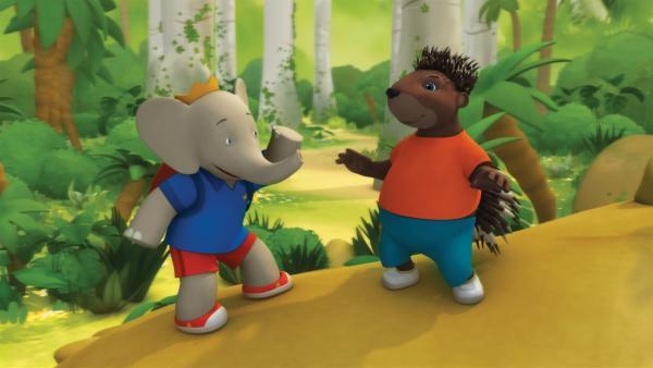 Badou und Munroe in der Dschumgebung.  | Rechte: KiKA/Nelvana Limited/TeamTO/TF1