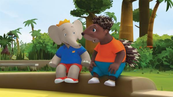 Badou und Munroe freuen sich über ihren freien Nachmittag.  | Rechte: KiKA/Nelvana Limited/TeamTO/TF1