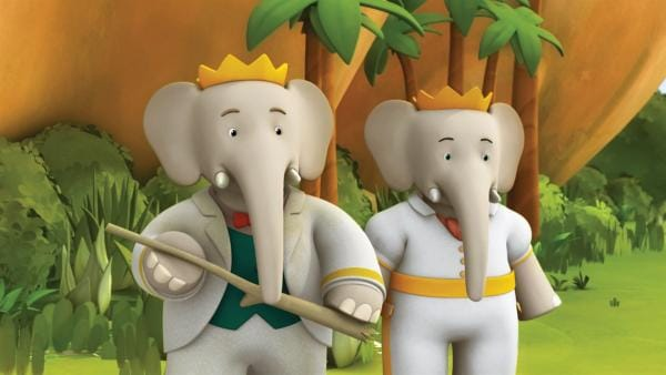 König Babar und Königin Celeste verstehen nicht, was passiert ist. | Rechte: KiKA/Nelvana Limited/TeamTO/TF1