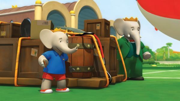 Babar und Badou wollen zu Heldopotamus reisen, um ihm mehr Ausrüstung zu bringen.  | Rechte: KiKA/Nelvana Limited/TeamTO/TF1