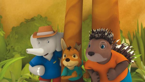 Badou, Fitz und Munroe auf Monsterjagd. | Rechte: KiKA/Nelvana Limited