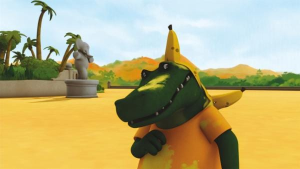 Theo mit Bananenschale | Rechte: KiKA/Nelvana Limited
