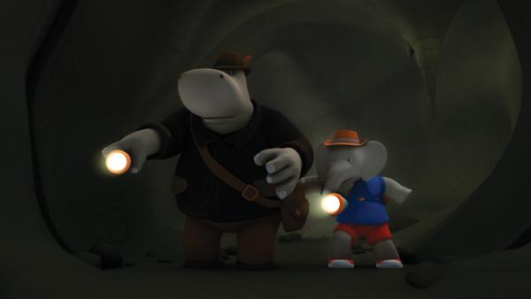 Heldopotamus und Badou suchen nach dem Stern-Stein. | Rechte: KiKA/Nelvana Limited