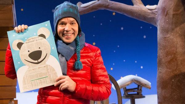Singa hat für Juri einen Eisbär gebastelt. | Rechte: KiKA/Tizian Hempel