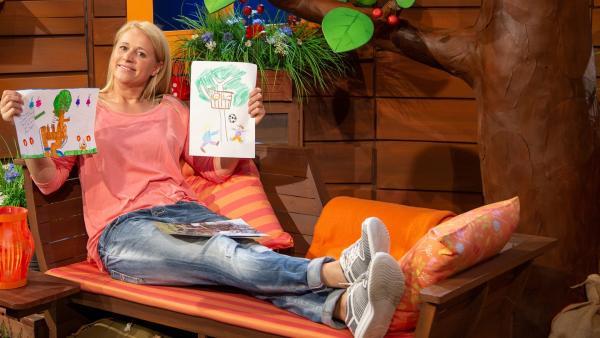 "Singa erklärt die Aktion ""KiKA kommt zu dir"". | Rechte: KiKA/Dorit Jackermeier"