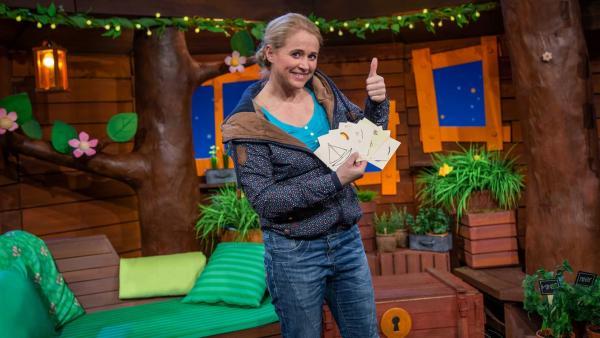 Singa spielt Pantomime. | Rechte: KiKA/Hannah Michalowicz