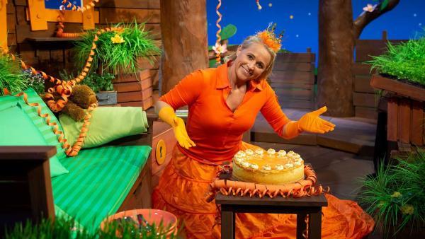 Singa feiert den Königinnentag. | Rechte: KiKA/Josefine Liesfeld