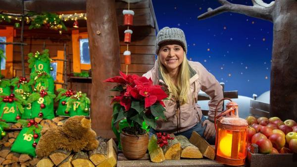 Singa zeigt ihren Weihnachtsstern. | Rechte: KiKA/Josefine Liesfeld