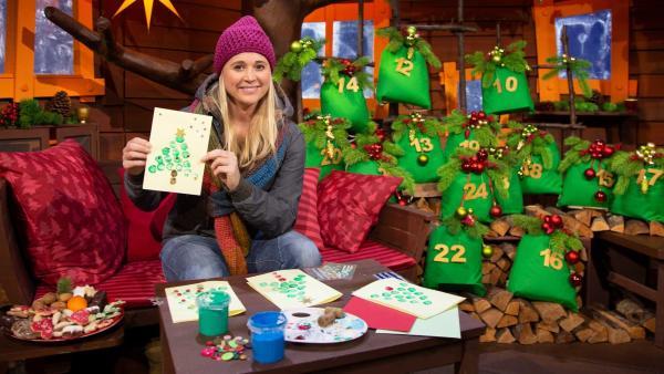 Singa verschickt Weihnachtspost. | Rechte: KiKA/Josefine Liesfeld