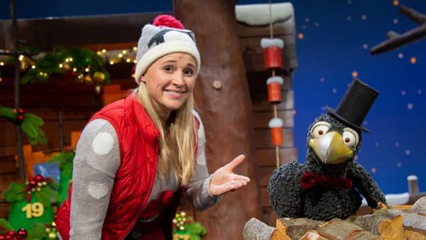 Singa und Rudi machen sich schick für Weihnachten. | Rechte: KiKA/Josefine Liesfeld