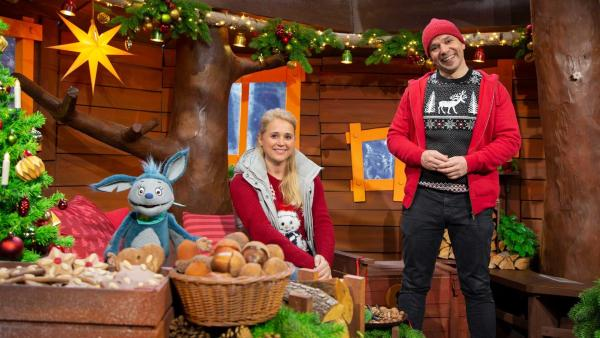 Singa, Juri und Fidi im Baumhaus | Rechte: KiKA/Josefine Liesfeld