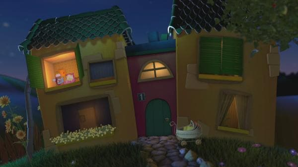 Holly liegt im Bett am Fesnter im Gute-Nacht-Haus. | Rechte: KiKA