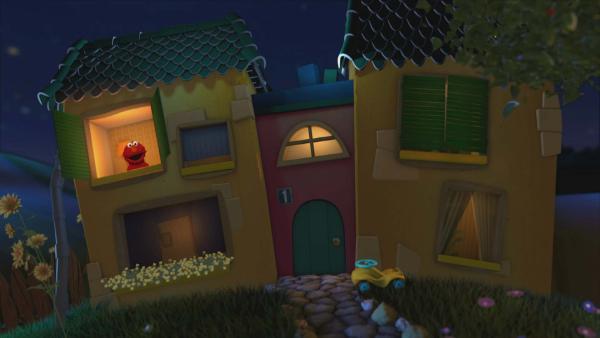 Elmo im Gute-Nacht-Haus | Rechte: KiKA