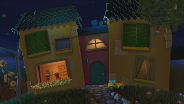 Jan und Henry im Gute-Nacht-Haus | Rechte: KiKA