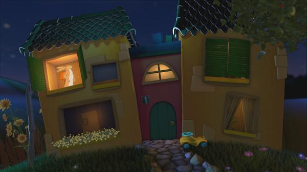 der kleine und der große braune Hase im Gute-Nacht-Haus | Rechte: KiKA