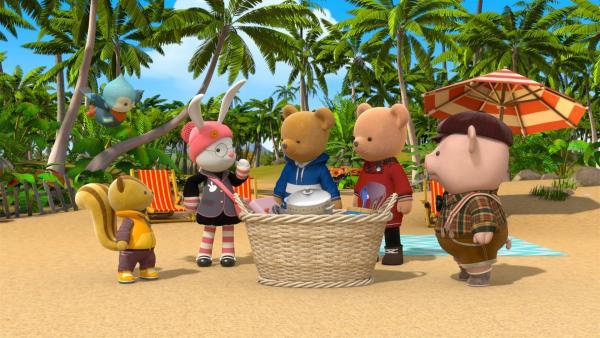 Millie verliert ihren Messbecher am Strand und muss wiedergefunden werden.   Rechte: BR/Enpop Co. Ltd.