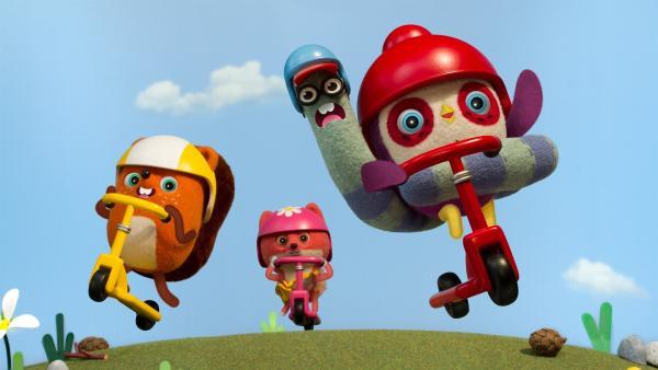 Becca, Silvie, Pedro und Emil stürzen sich in ein neues Abenteuer.  | Rechte: NDR/JAM Media