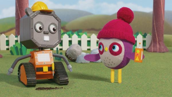 Robobilly repariert alles für Becca auf Knopfdruck. | Rechte: NDR/JAM Media