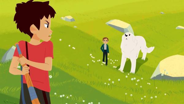 Sebastian (links) hat von Amadeus (Mitte) genug. | Rechte: ZDF/Gaumont Animation/PP Animation III Inc.