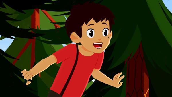 Sebastian freut sich auf den kleinen Adler. | Rechte: ZDF/Gaumont Animation/PP Animation III Inc.