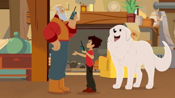 Sebastian wünscht sich ein Walkie-Talkie. | Rechte: ZDF/Gaumont Animation/PP Animation III Inc.