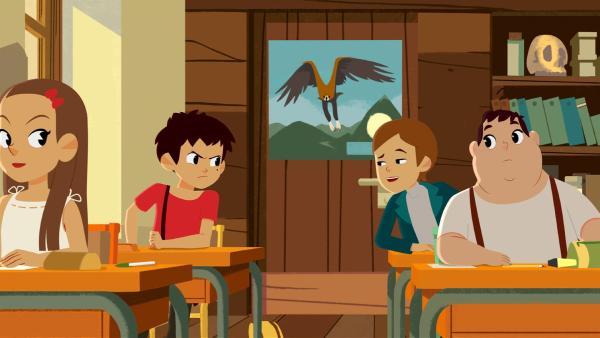 Amadeus (2. von rechts) lästert mal wieder über Sebastian (3.von rechts). | Rechte: ZDF/Gaumont Animation/PP Animation III Inc.