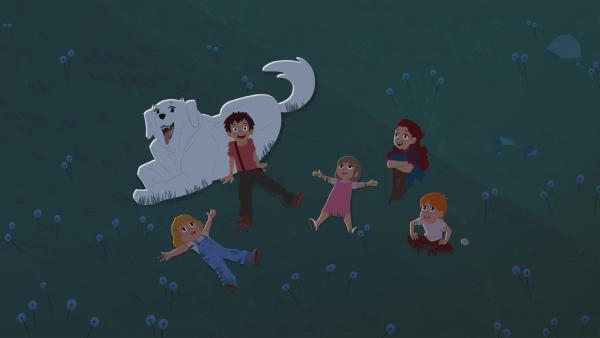 Eine schöne Sternschnuppen-Nacht.   Rechte: ZDF/Gaumont Animation