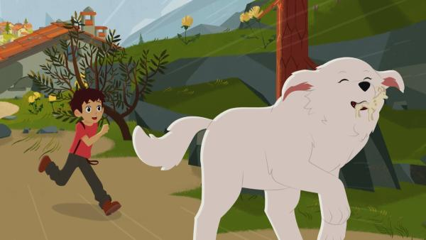 Wo läuft Belle nur mit dem Glücksbringer hin? | Rechte: ZDF/Gaumont Animation/PP Animation III Inc.