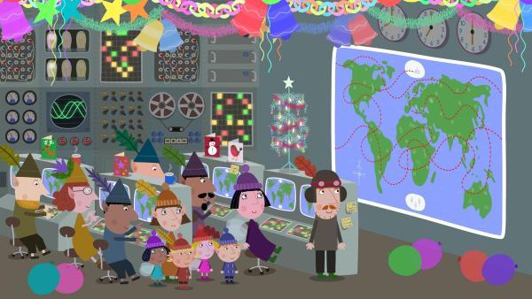 Leider ist einiges schief gelaufen bei den Weihnachtsvorbereitungen. Die Elfen arbeiten fleißig daran, die Fehler auszubügeln.   Rechte: ZDF/Astley Baker Davies Ltd/Rubber Duck Entertainment