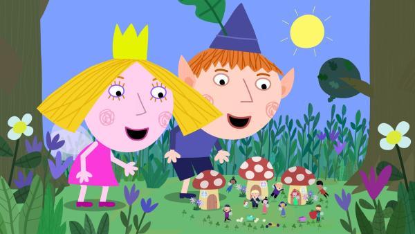 Ben und Holly gefällt das riesige Dasein. Die restlichen Bewohner des kleinen Königreiches sind allerdings nicht sonderlich begeistert. | Rechte: ZDF/Astley Baker Davies Ltd/Rubber Duck Entertainment