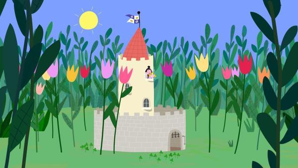 Die Sonne scheint und die Blumen blühen. Endlich ist Frühling im kleinen Königreich. | Rechte: ZDF/Astley Baker Davies Ltd/Rubber Duck Entertainment